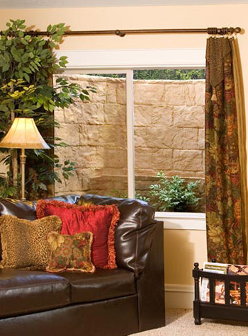 Everlast Basement Windows in a stylish basement
