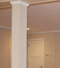 Easy Wrap column sleeves in Penfield basement