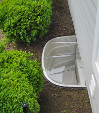 basement egress window well in Grand Island
