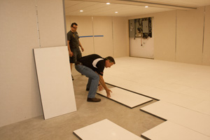 Installing insulated subfloor panels in Rochester
