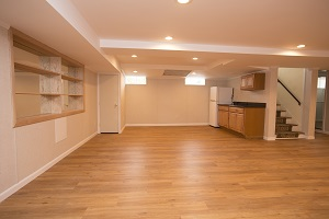 Basement finishing flooring in Buffalo & nearby